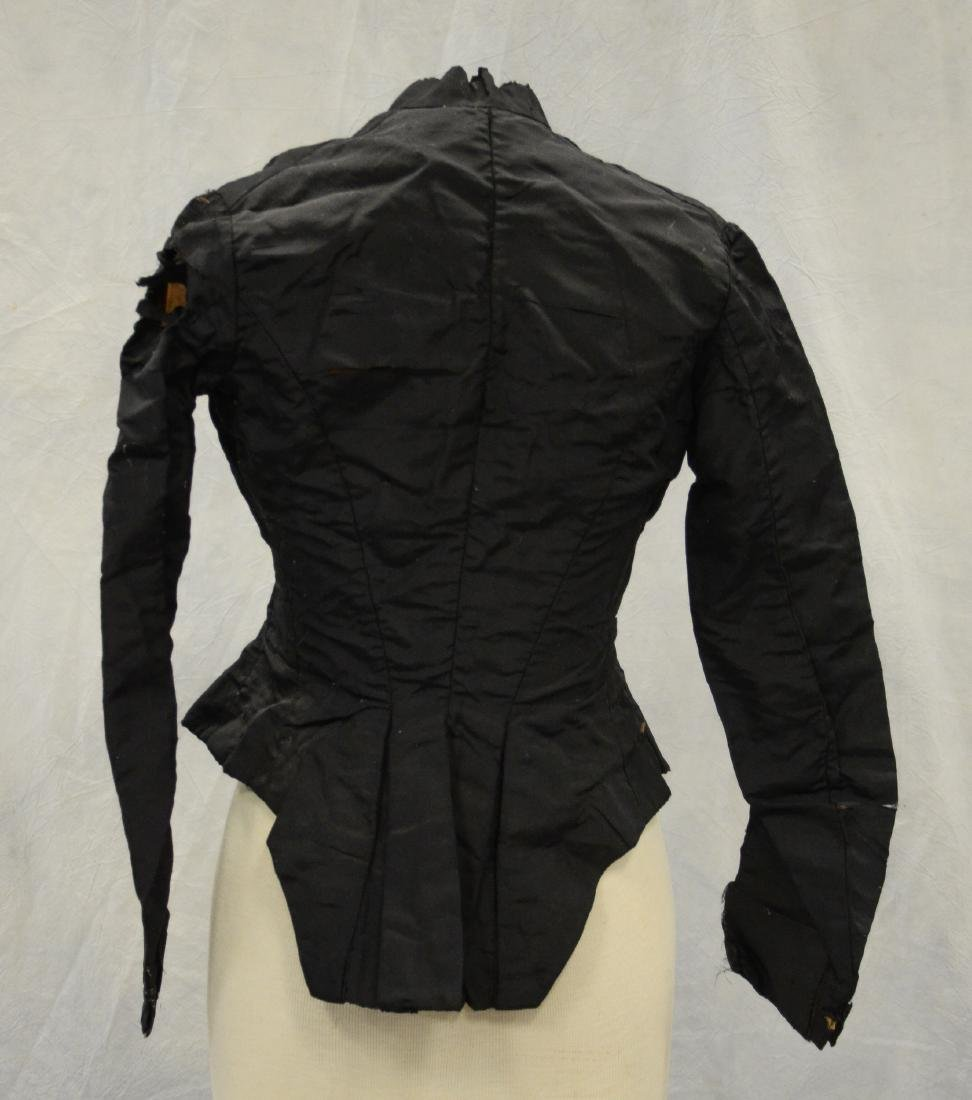 (4) Black Victorian Mourning Clothing items + a bustle: - 6
