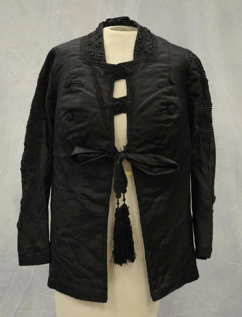 (4) Black Victorian Mourning Clothing items + a bustle: - 7