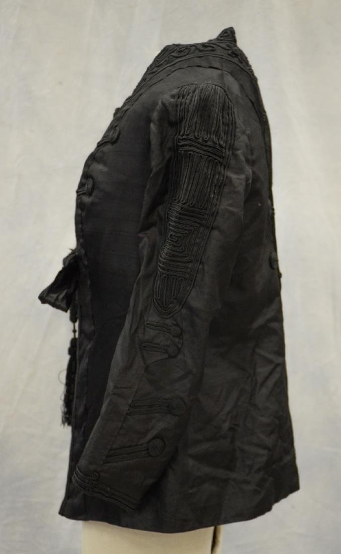 (4) Black Victorian Mourning Clothing items + a bustle: - 8