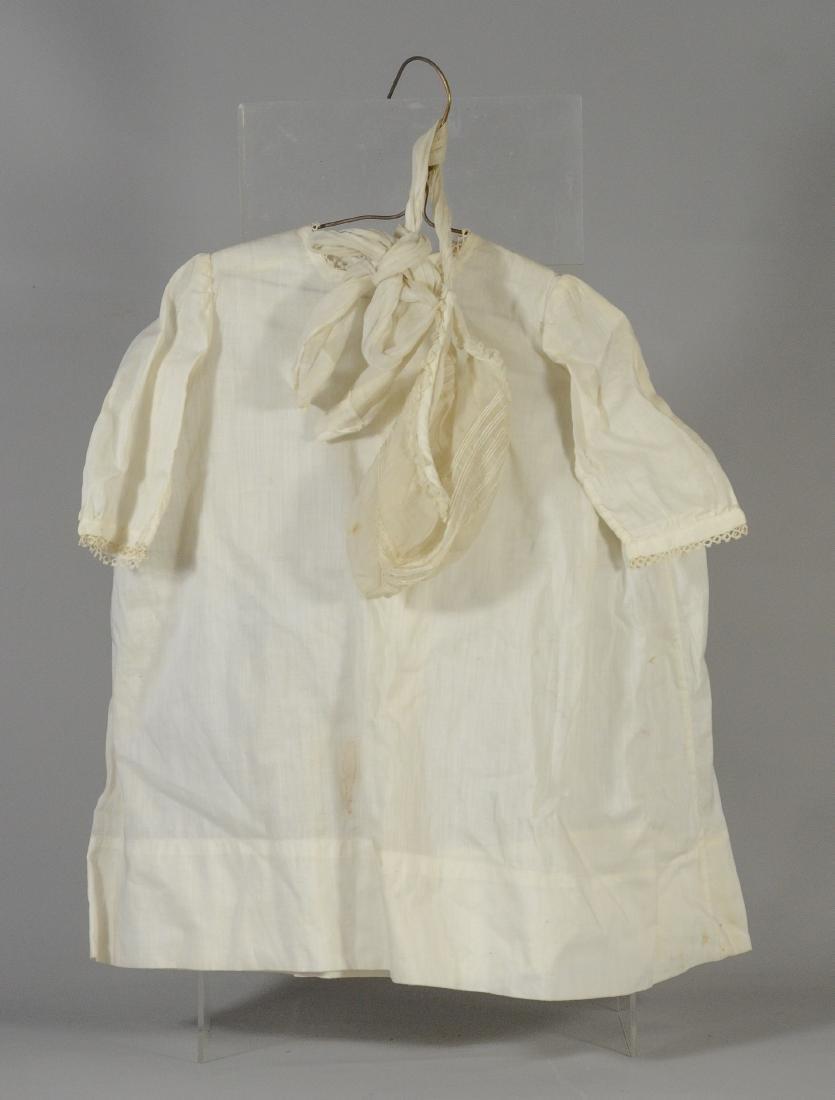 (3) White Victorian clothing item plus 3 accessories: - 2