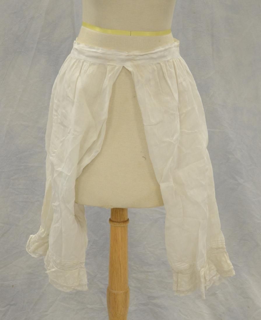 (3) White Victorian clothing item plus 3 accessories: - 3
