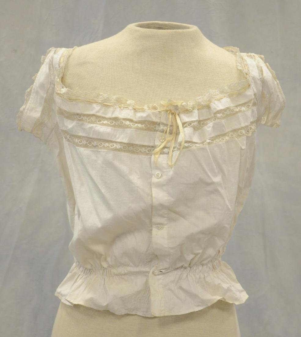 (3) White Victorian clothing item plus 3 accessories: - 4