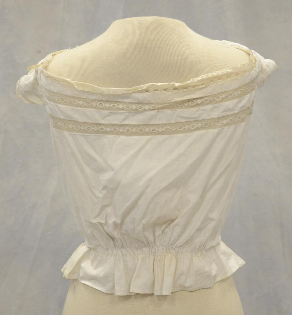 (3) White Victorian clothing item plus 3 accessories: - 5