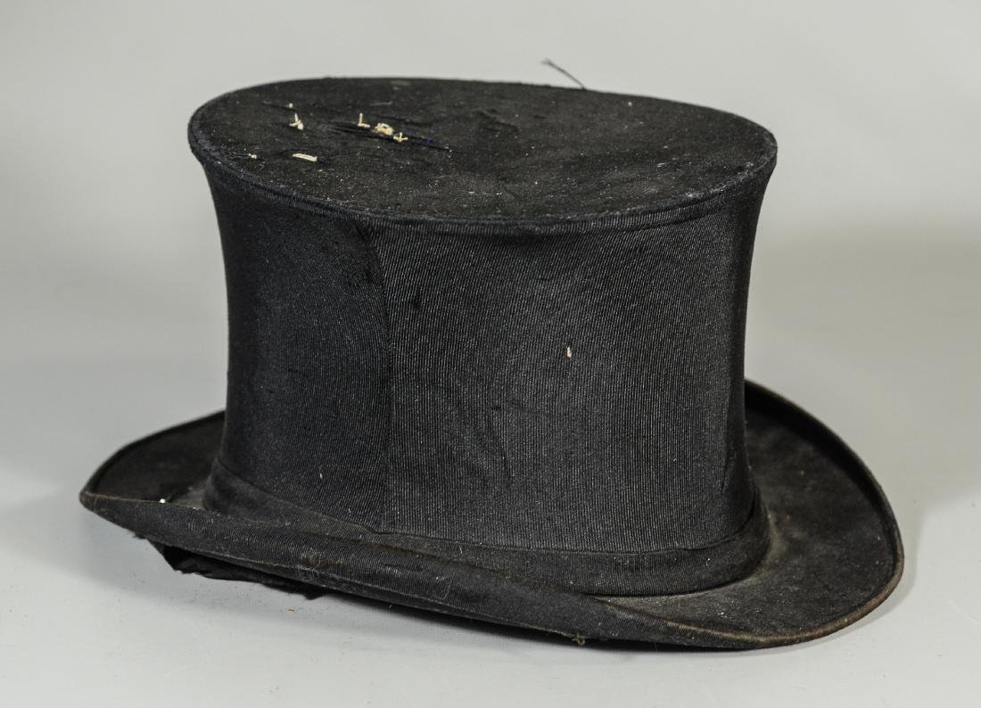 (8) Men's top hats/boaters/bowler: (2) Victorian Beaver - 2