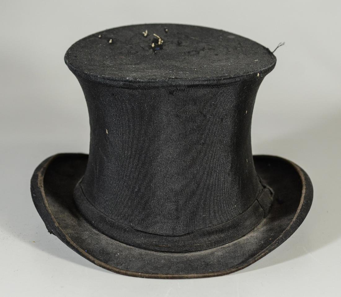 (8) Men's top hats/boaters/bowler: (2) Victorian Beaver - 3