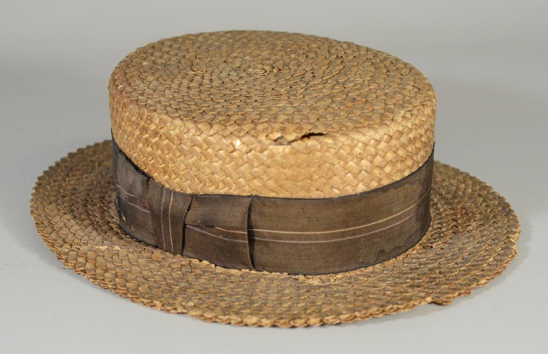 (8) Men's top hats/boaters/bowler: (2) Victorian Beaver - 6