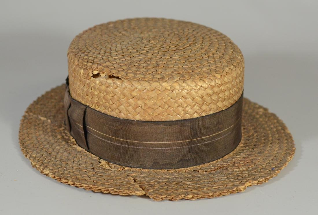 (8) Men's top hats/boaters/bowler: (2) Victorian Beaver - 7