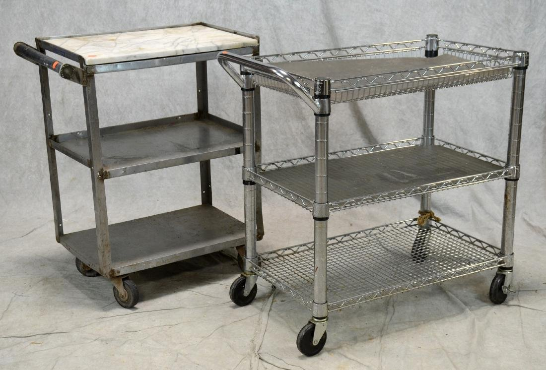 Heavy Stainless Steel Food Prep Utility Cart w/