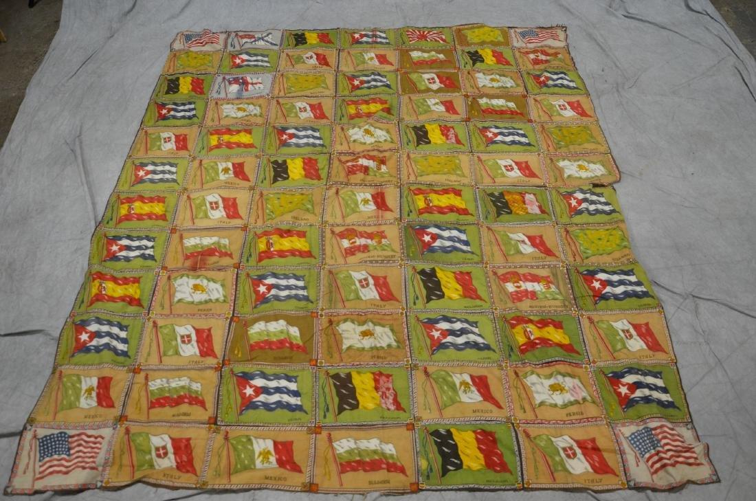 Tobacco Silk Flag Quilt  WWI  48 star American flag