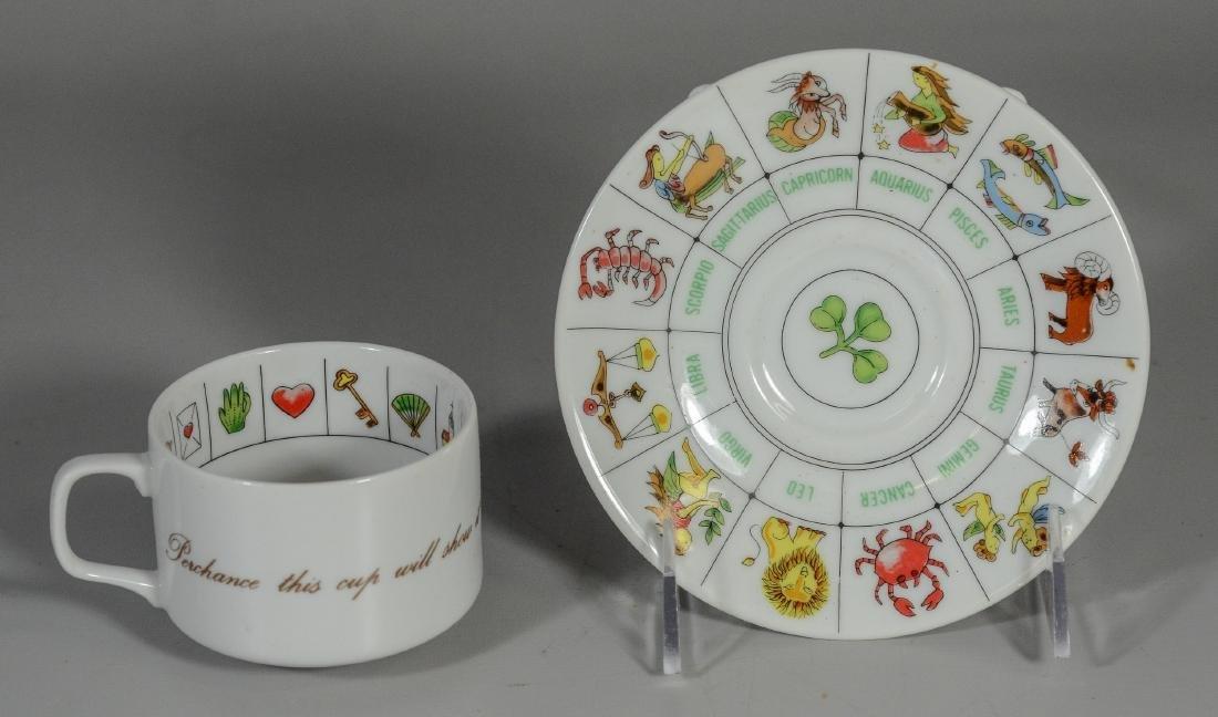 Misc Lot: Fortune Telling Tea Reading Cup Set Zodiac - 6