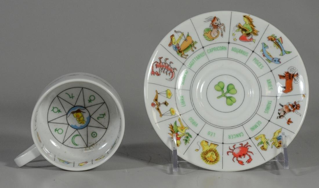 Misc Lot: Fortune Telling Tea Reading Cup Set Zodiac - 7