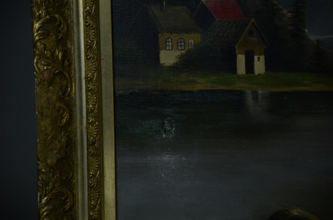 Unsigned oil on canvas, landscape - 2
