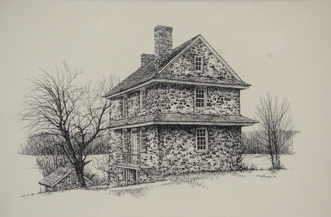 """Peter Sculthorpe (American, b. 1948), drawing """"The"""