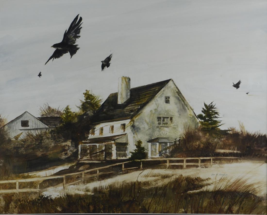 Rea Redifer (American, 1933-2008), landscape painting