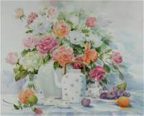 Aileen Mumford Watercolor Still LIfe Roses