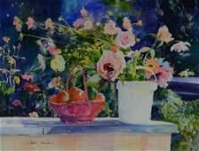 Shah Moravati Watercolor Still Life Ruths Harvest