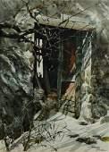 Carolyn Blish (American, b. 1928), watercolor painting