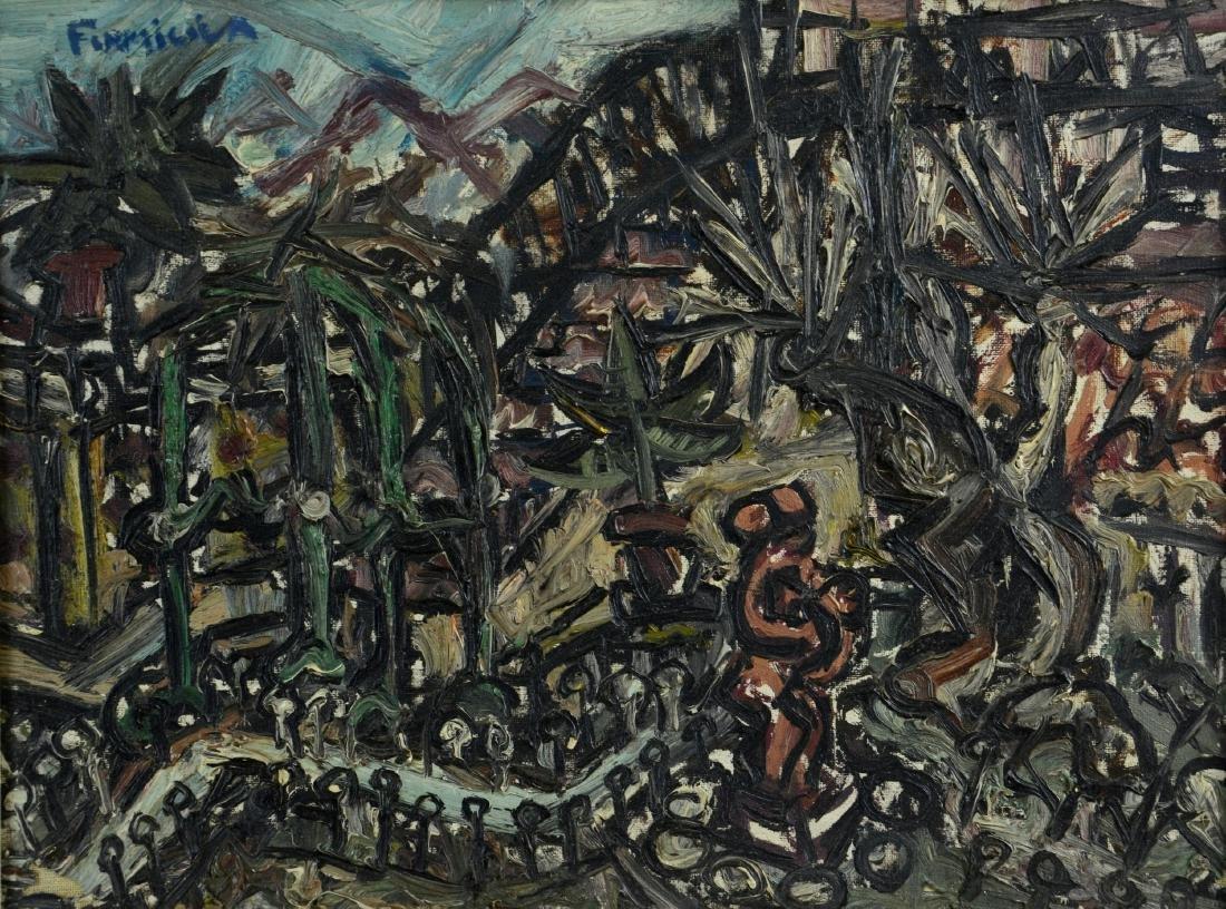 John Formicola (American, b. 1941), abstract landscape
