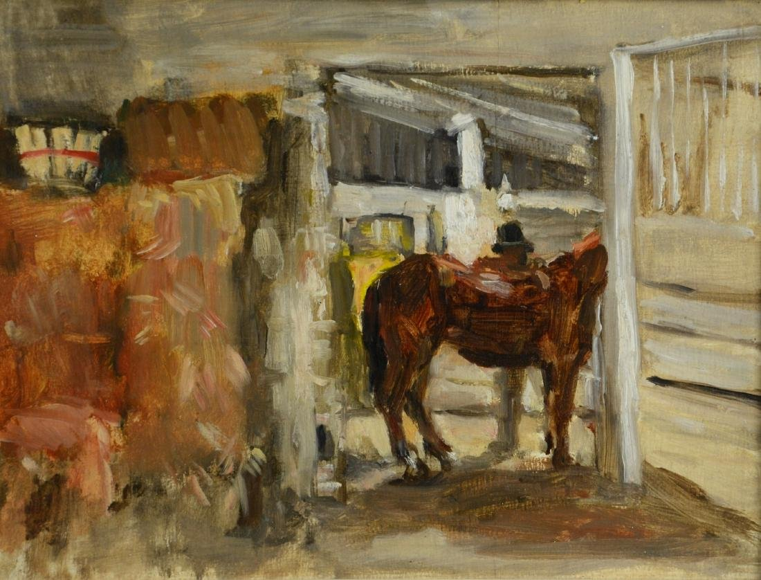 "Seymour Remenick (American, 1923-1999), painting ""Horse"