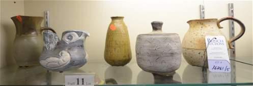 Shelf #11 - 5 Pcs Art Pottery