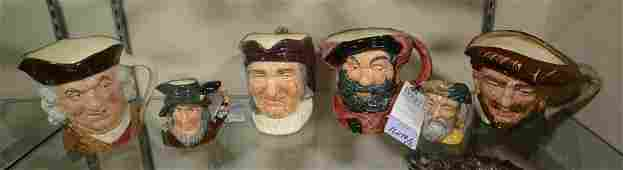 Shelf #29 - (6) Royal Doulton Toby Jugs