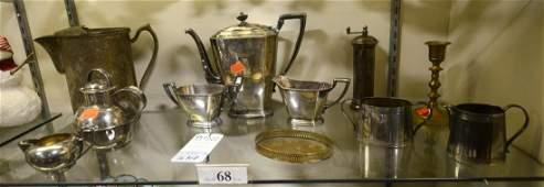 Shelf #68 - Silverplate & Brass