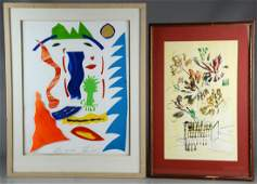 Modern collage and mixed media still life