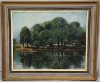 Sara E Jump Impressionist Landscape Painting