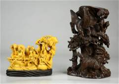 (2) Chinese Wood Carvings