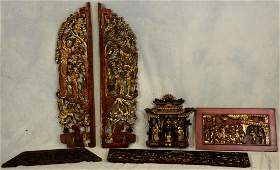 (6) Chinese Carved Giltwood Panels