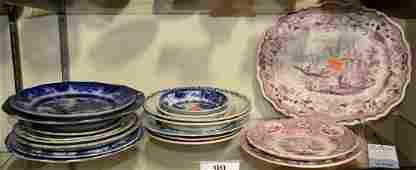 Shelf #99 - (18) Pcs Transferware Porcelain