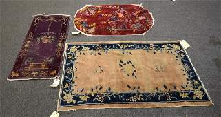 Lot of 3 Vintage Chinese Art Deco Rugs