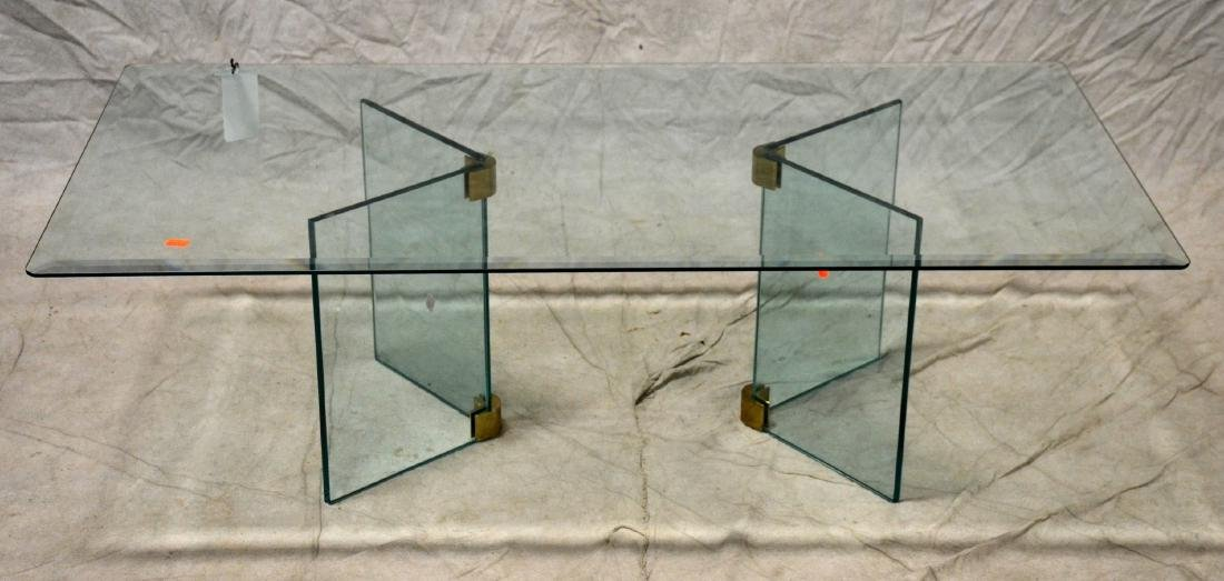 Modern Design Pace style brass & glass coffee table