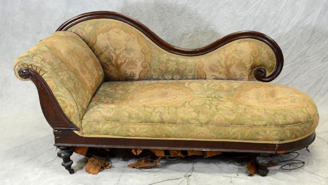 Mahogany Victorian Eastlake fainting sofa,