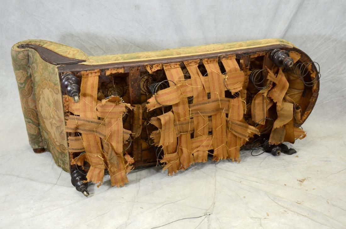 Mahogany Victorian Eastlake fainting sofa, - 2