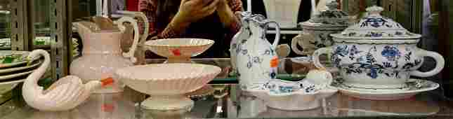 Shelf #4 - (7) Pcs Porcelain