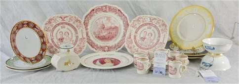 Shelf 23  31 Pcs Commemorative Porcelain