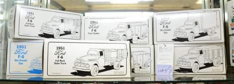 Shelf #66 - (7) First Gear 1951 Ford F-6 Trucks