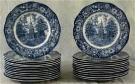 (25) Staffordshire Liberty Blue Plates