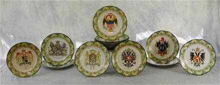 (18) National Emblems Commemorative Plates