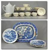 Blanke's Ceramic Coffee Pot, English Blue and White