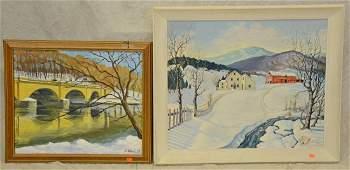 (2) Winter Landscape Paintings