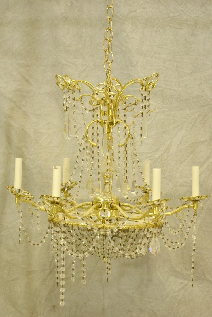 French style brass prism chandelier