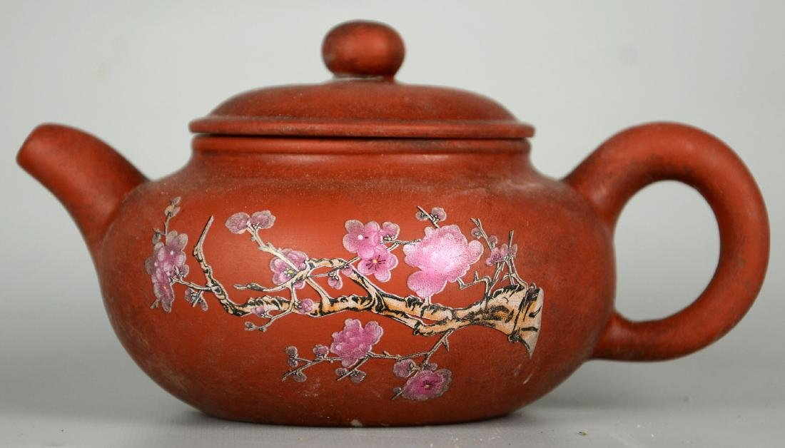 Chinese Zisha Teapots; Chinese Carved Brush Pots - 2