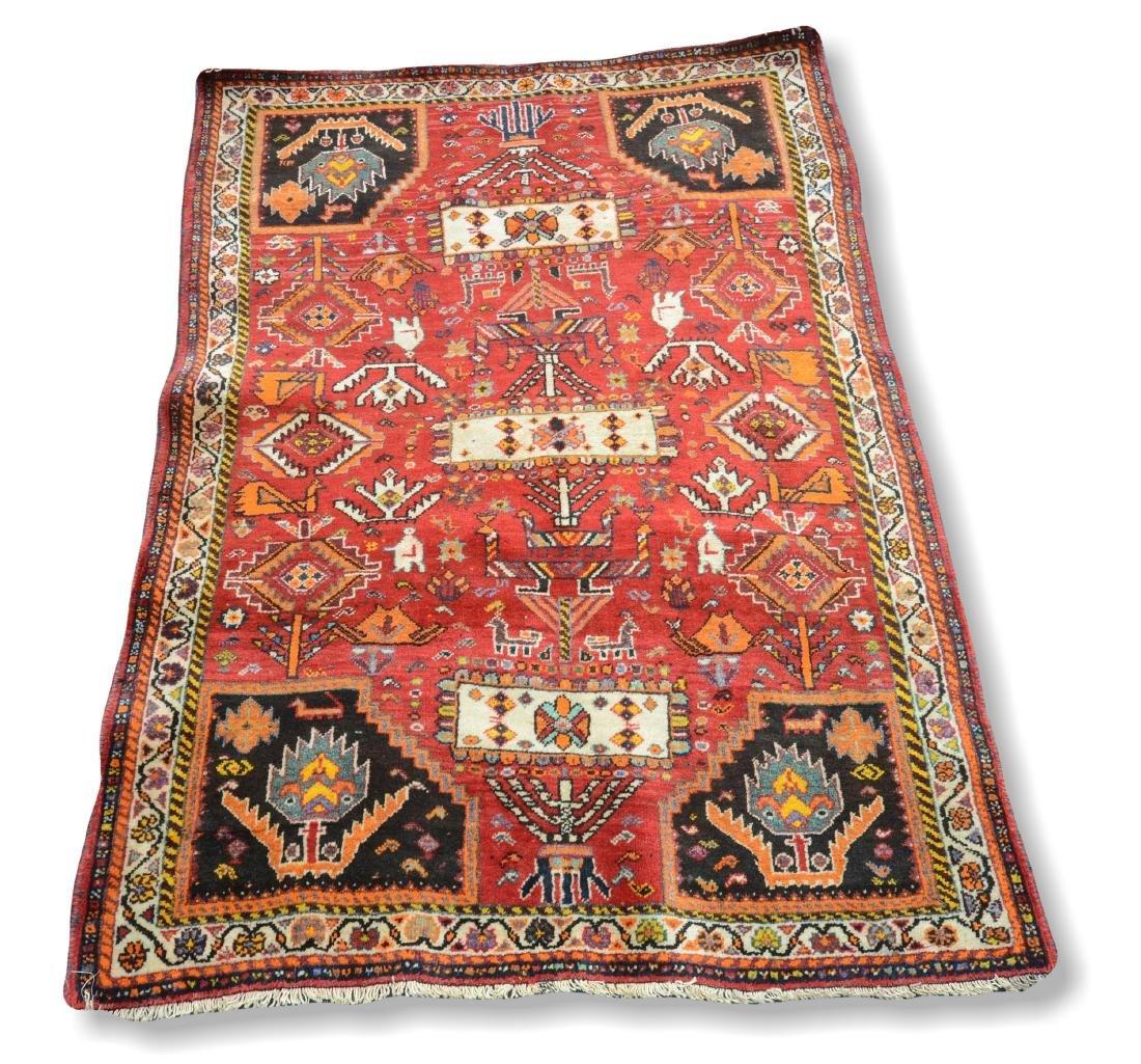"Persian Shiraz Rug 3'8"" X 5'"