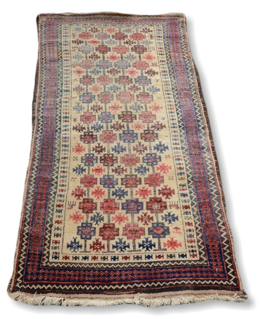 "Afghan  Baluch Rug, 2'11"" X 5'6"""