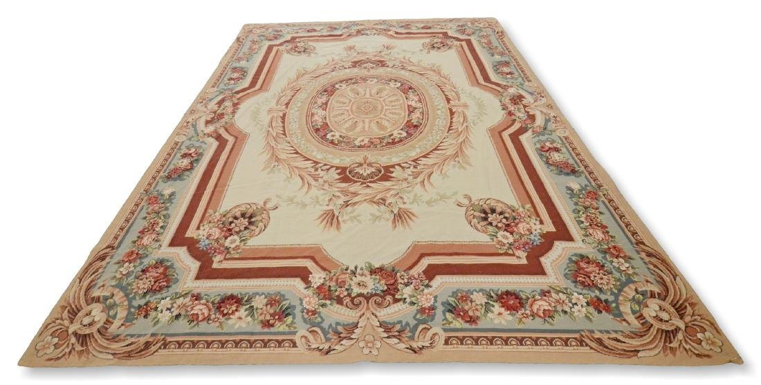 Aubusson Style Needlepoint Carpet 9'x11'9""