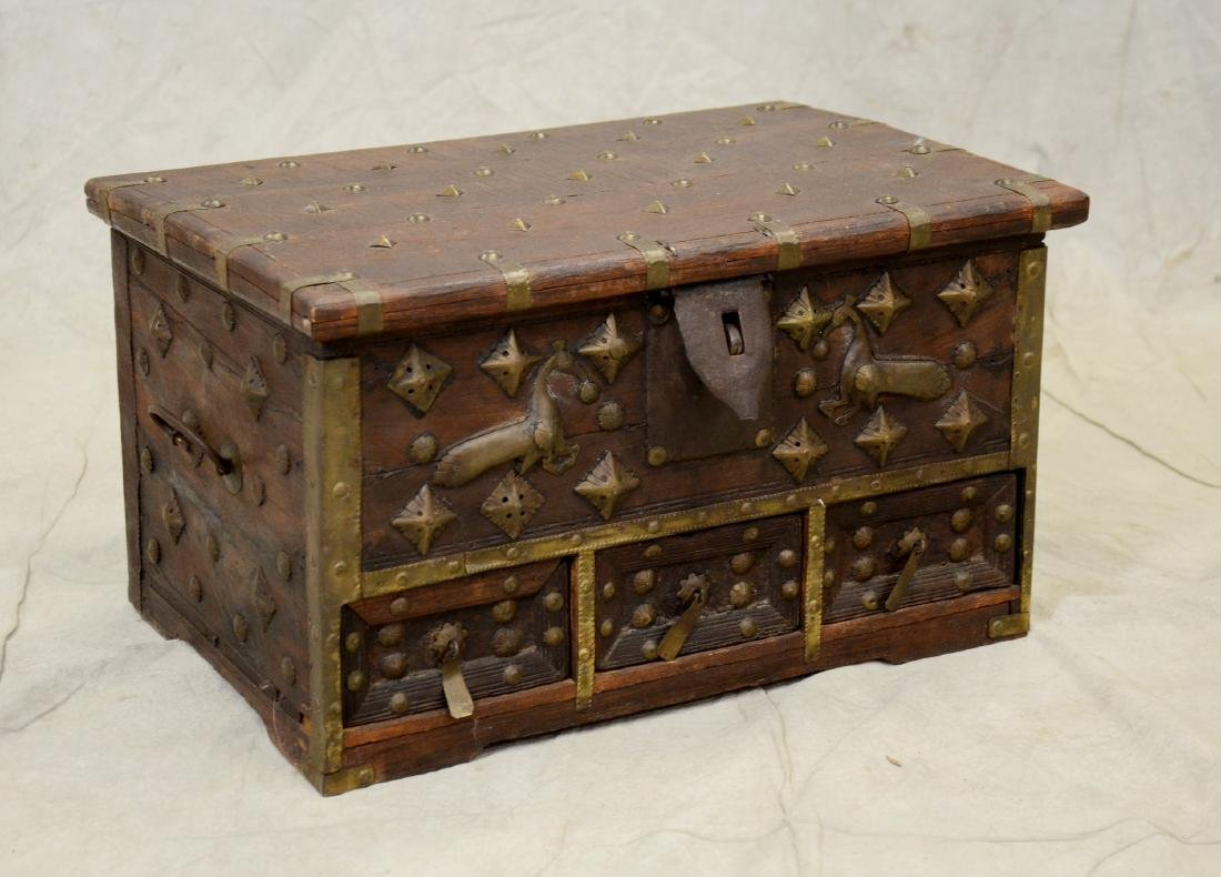 Rosewood Indian dowry chest