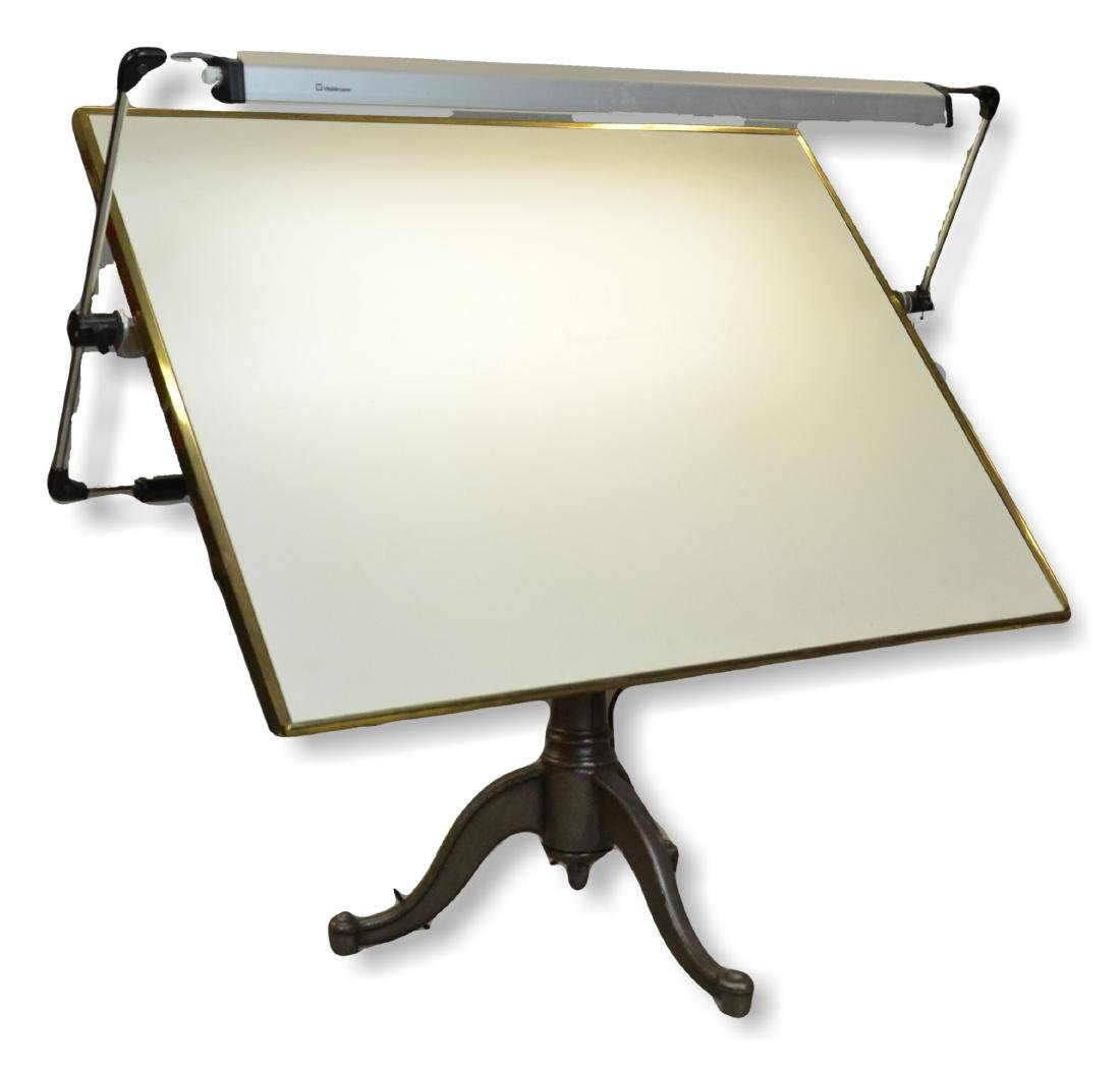 """Drafting table, 42 1/2"""" w, 32"""" d, 43"""" h"""