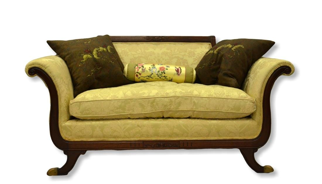 Mahogany Federal Style Settee